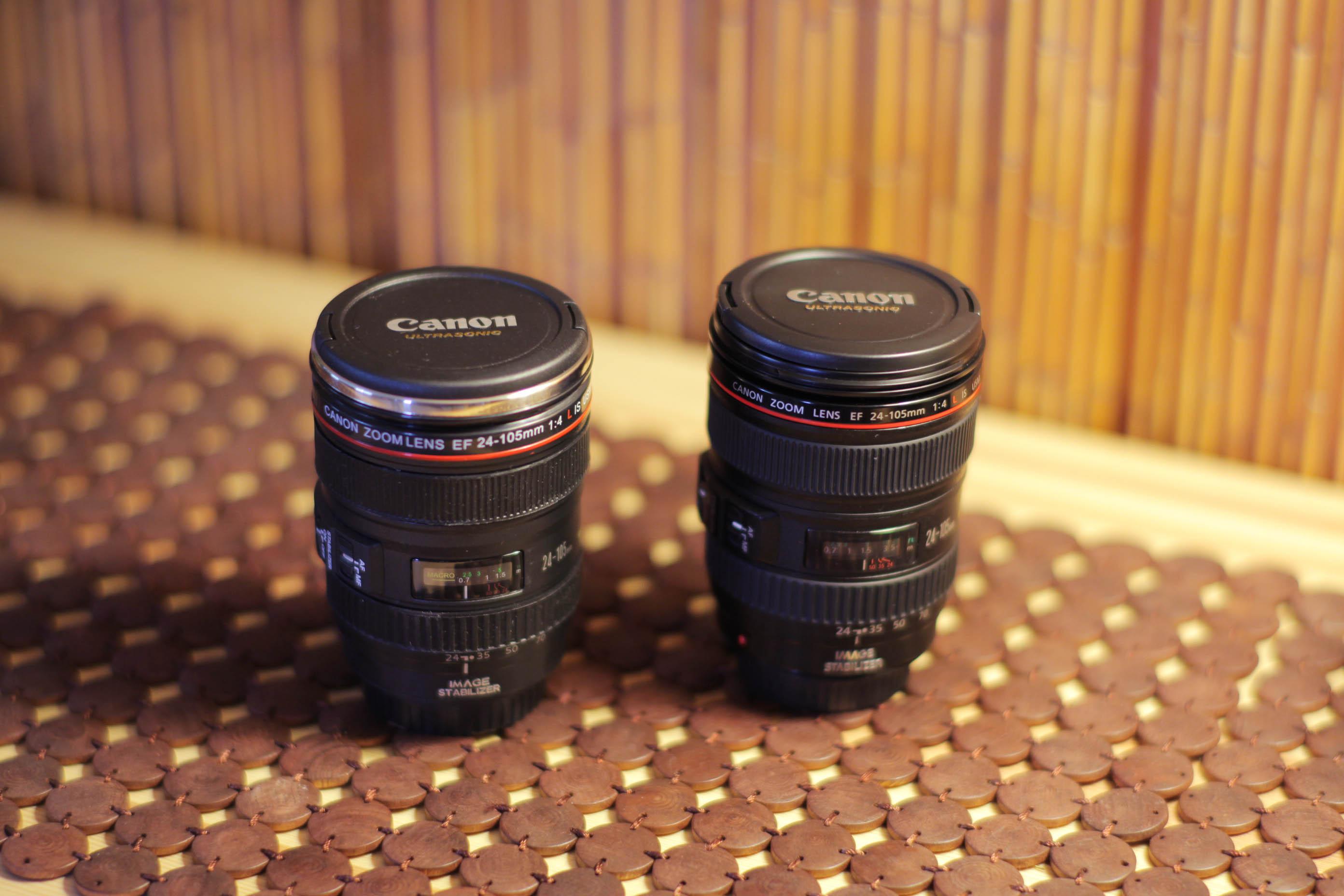 Nextwavedv canon ef 24 105mm f 4l is usm mug for Canon photo lens mug