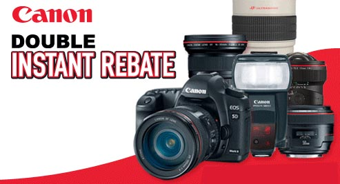 Canon Rebates are Back! Save BIG on DSLRs and Lenses