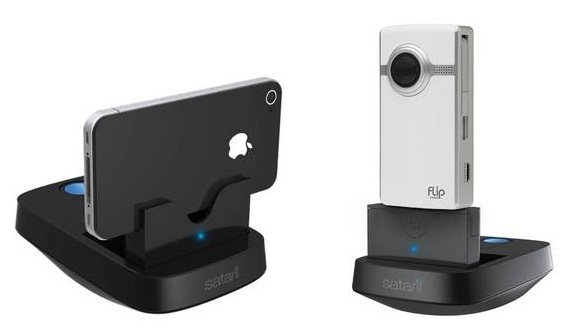 Phone dock tracks your motion for video