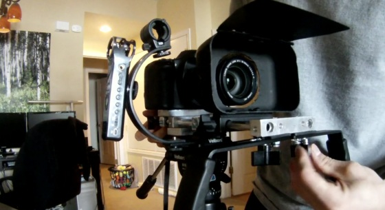 DIY DSLR Adjustable Shoulder Rig