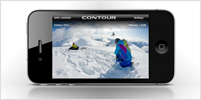 Contour ConnectView lets you monitor your helmet cam on your iPhone or iPod Touch