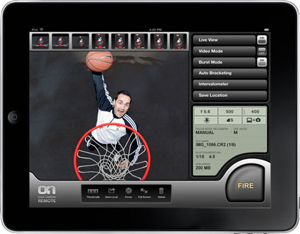 DSLR Camera Remote HD for the iPad