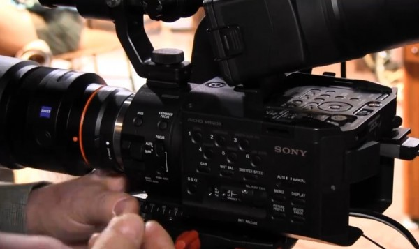 NAB 2011: Sony NEX-FS100 Super 35mm sensor video camera