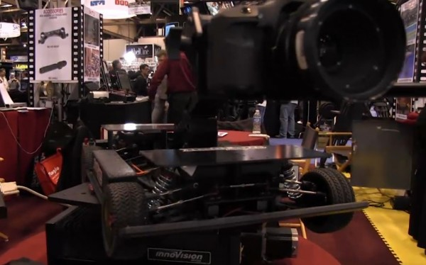 NAB 2011: Innovision rain deflector, remote camera car, vertical slider