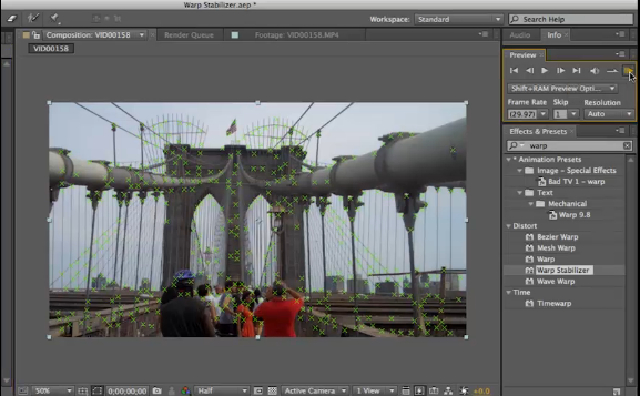 Preview of new motion stabilizer for Adobe After Effects