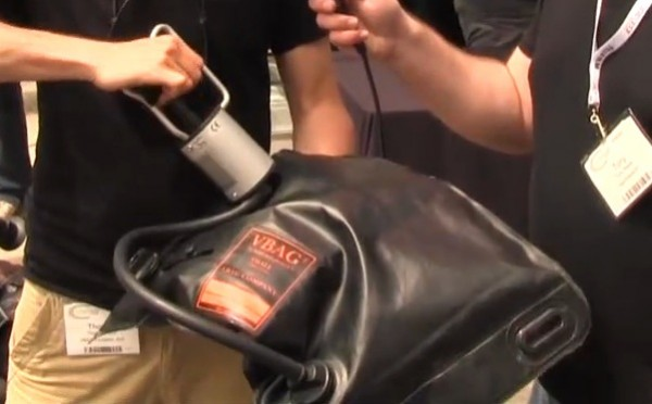 Cine Gear 2011: VBag flexible vacuum bag camera support system