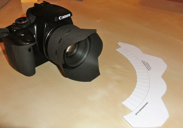 Free printable lens hoods for your DSLR camera