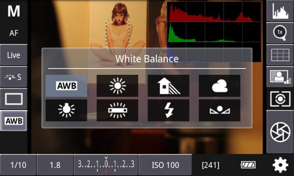 DSLR Controller, App to control your Canon HDSLR from your Android phone or tablet