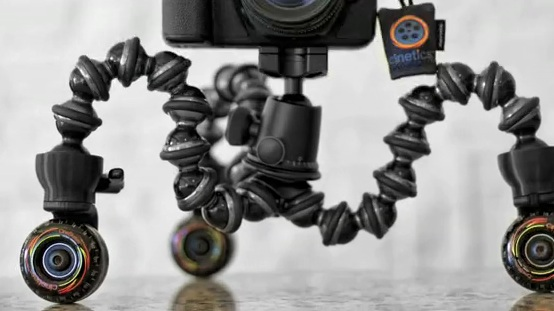 CineSkates, an infinitely positionable camera slider