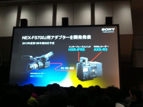4K on the Sony FS700 will cost you an extra $9,000?