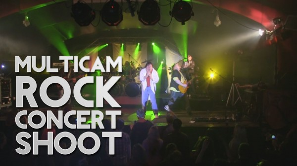 Film Scene: Shooting a multicam DSLR rock concert music video production