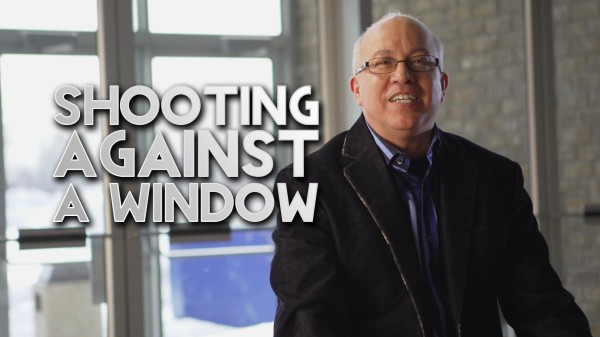 Film Scene: Shooting a Video Interview Against a Window