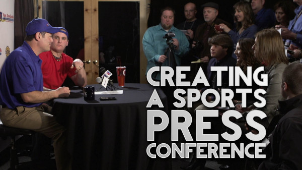 Film Scene: Creating a Sports Press Conference and Camera Strobe/Flash Effect