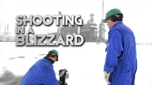 Film Scene: Shooting in a Blizzard and in a Black Hawk Helicopter