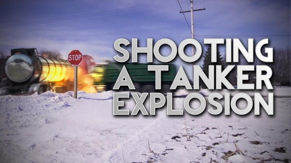 Film Scene: Shooting an Oil Tanker Explosion